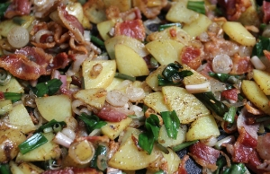 Bacon, ramps and potatoes. Easy, simple, crazy good.